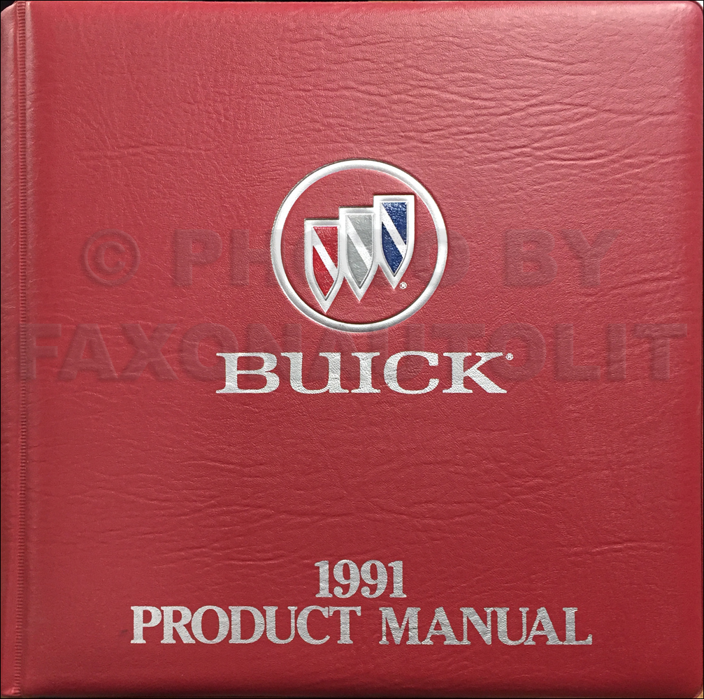1991 Buick Color & Upholstery Dealer Album/Data Book Original