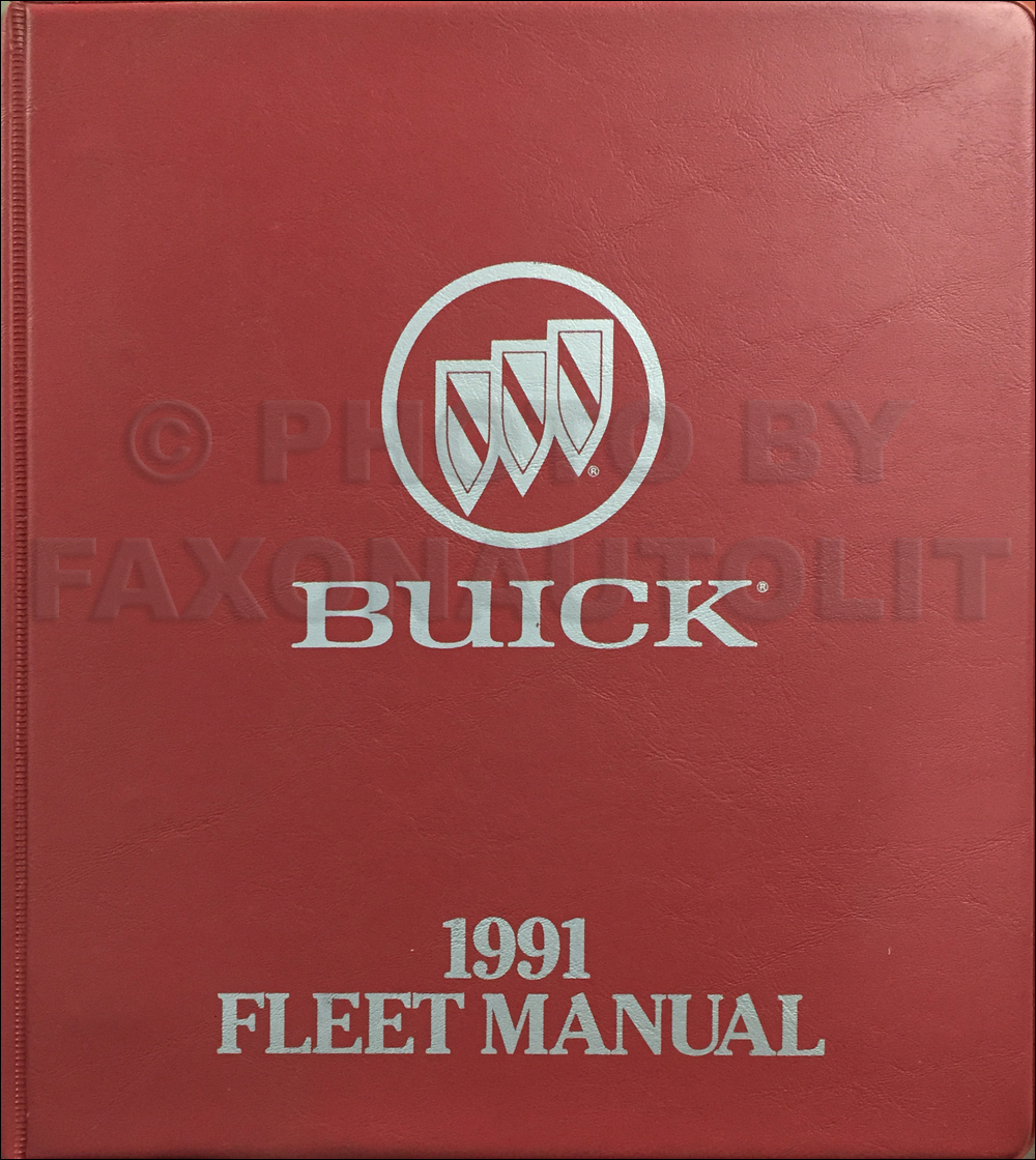 1991 Buick Fleet Buyers Guide Original