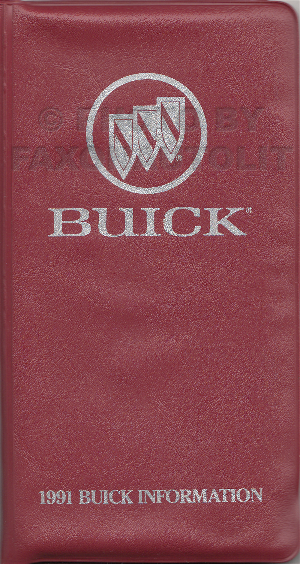 1991 Buick Salesperson's Pocket Price Lists Original