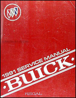 1991 Buick Regal Shop Manual Original