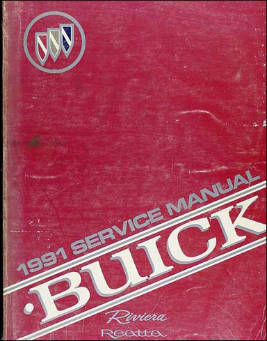 1991 Buick Riviera & Reatta Shop Manual Original