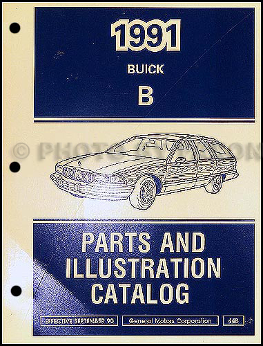 1991 Buick Roadmaster Station Wagon Parts Book Original