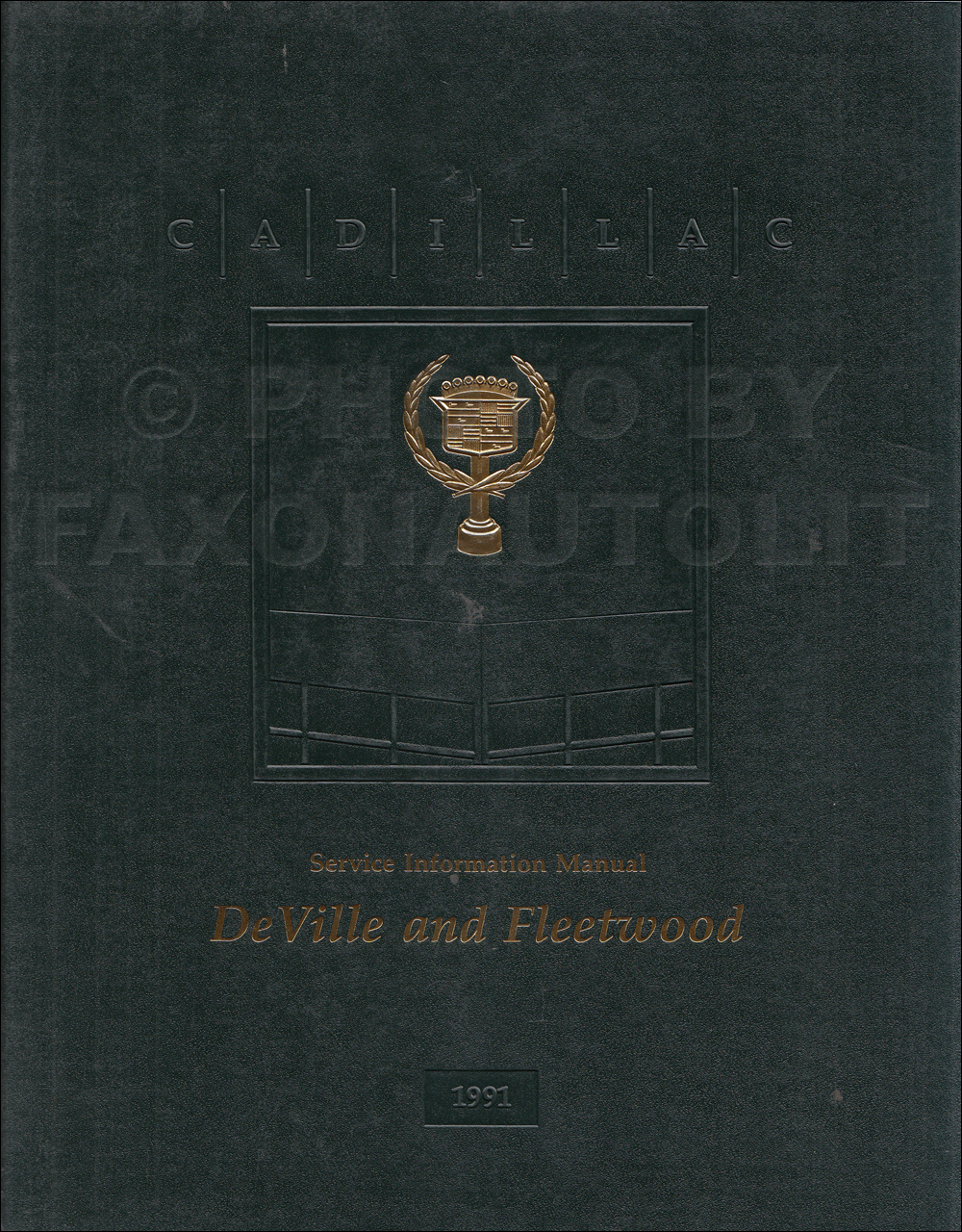 1991 Cadillac De Ville & Fleetwood Shop Manual Original