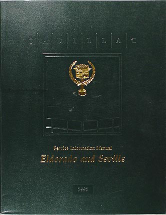 1991 Cadillac Seville & Eldorado Shop Manual Original
