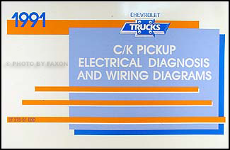 1991 Chevy C/K Pickup Wiring Diagram Manual Original