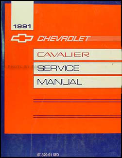 1991 Chevy Cavalier Repair Manual Original