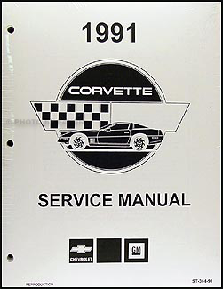 1991 Corvette Shop Manual Factory Reprint
