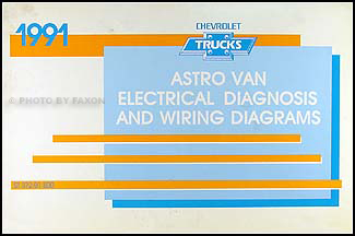 1991 Chevy G Van Wiring Diagram Manual Original