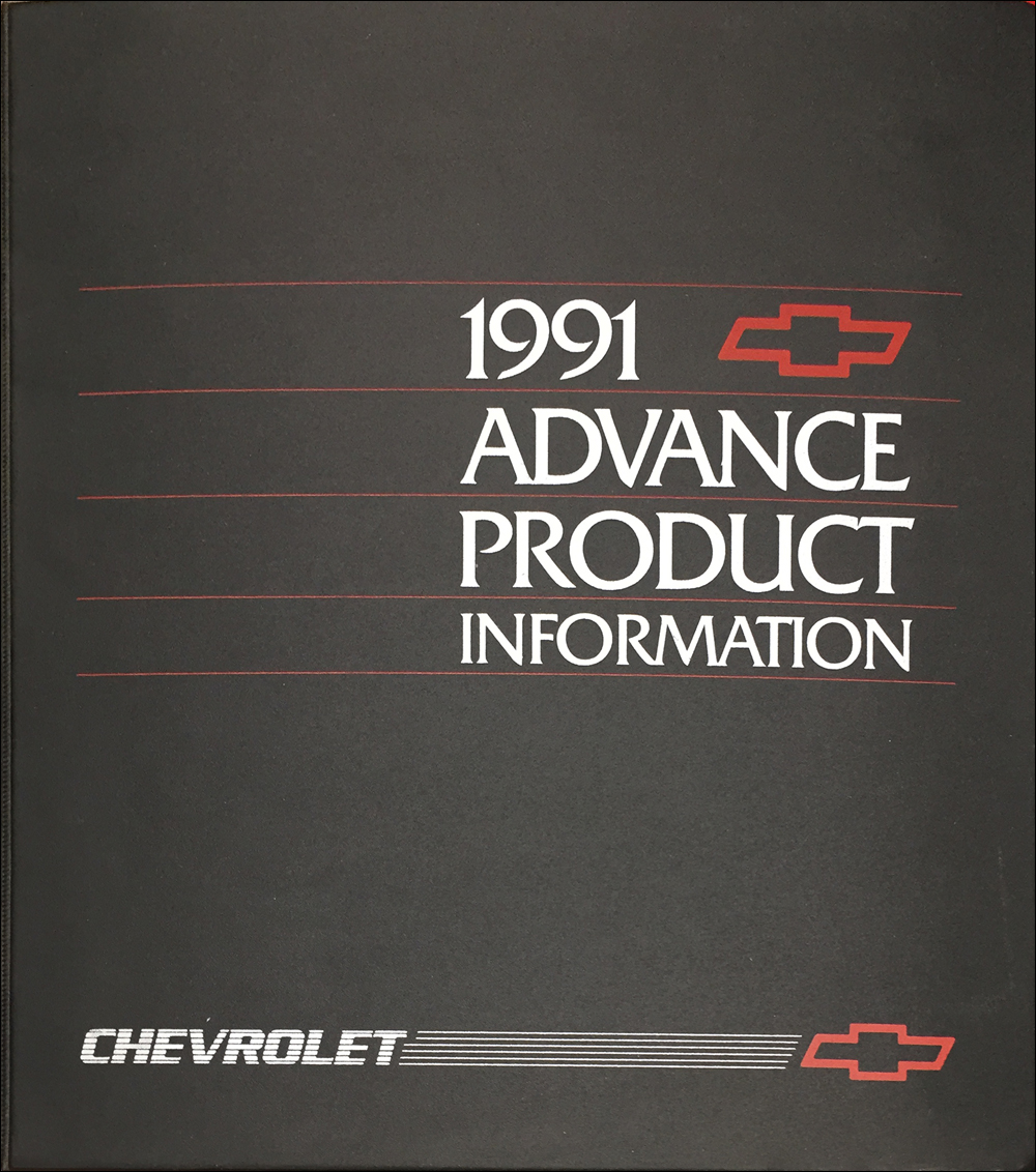1991 Chevrolet Advance Technical Press Kit Original
