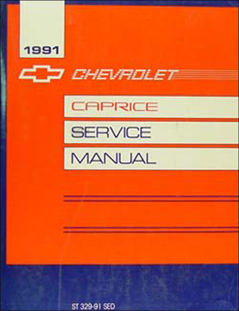 1991 Chevy Caprice Sedan Repair Manual Original