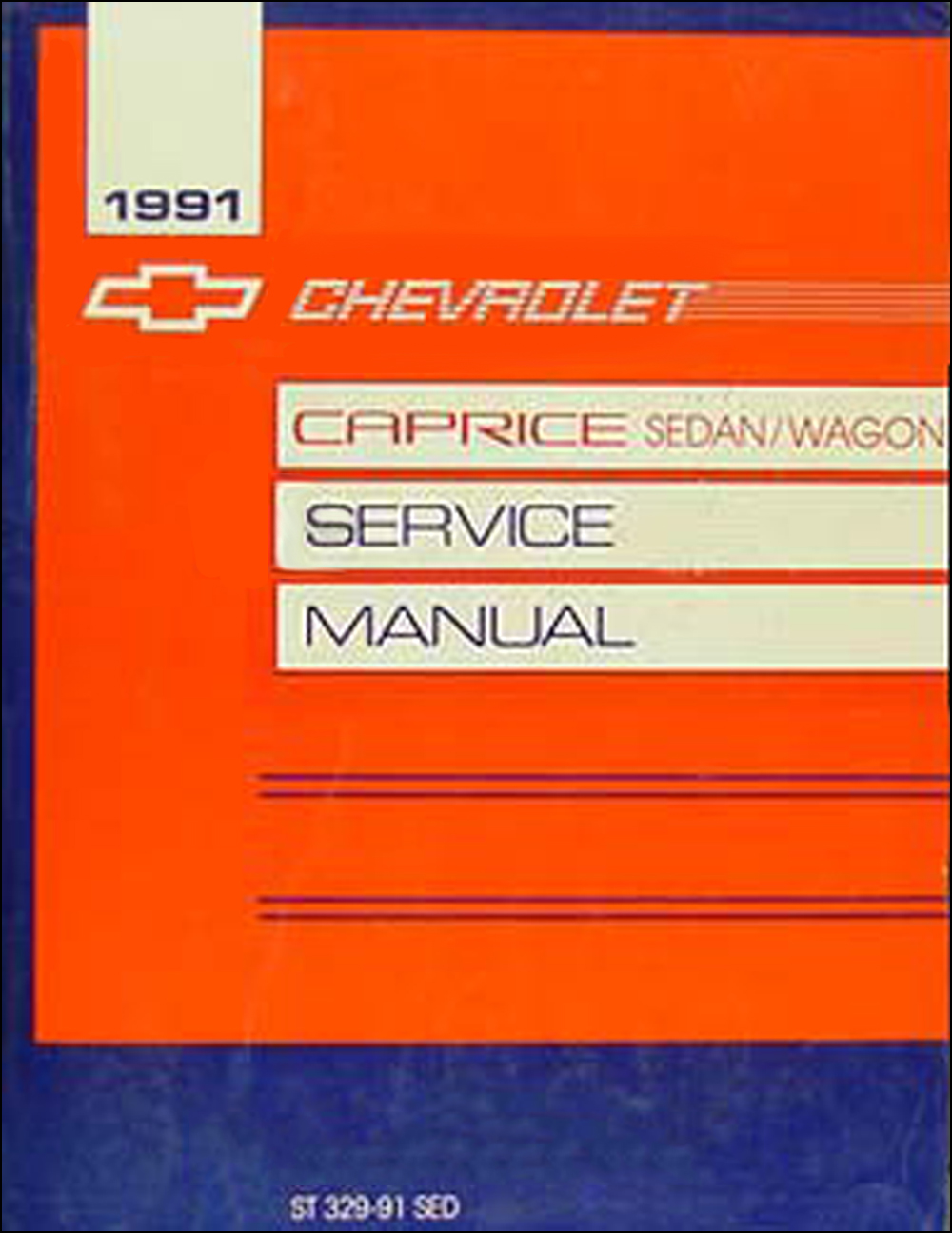 1991 Chevy Caprice Wagon Repair Shop Manual Original on