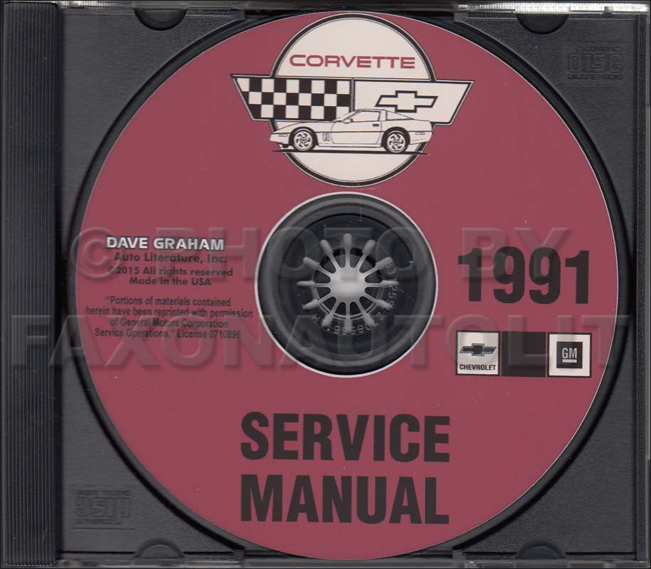 1991 Chevrolet Corvette Service Manual on CD-ROM