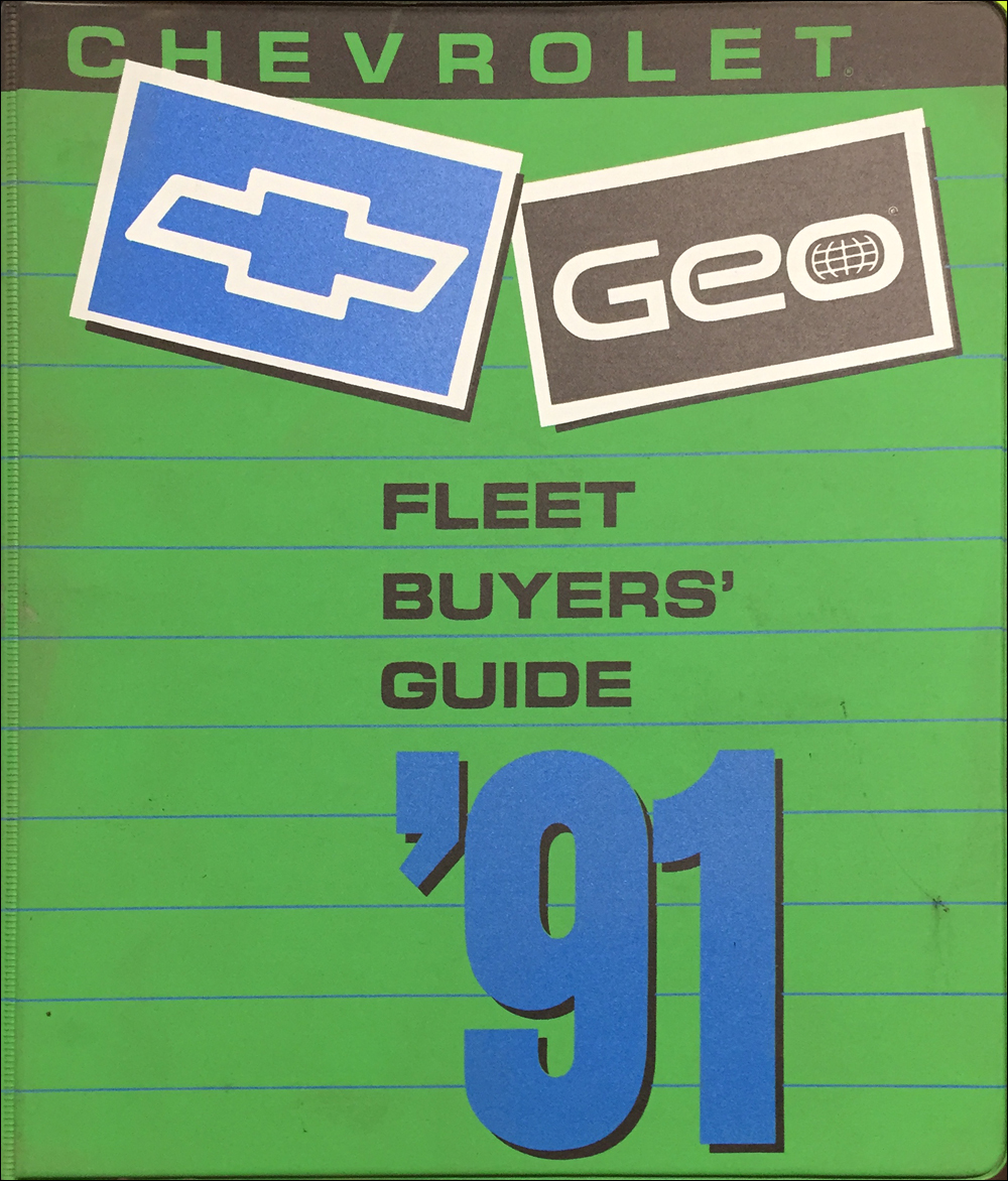 1991 Chevrolet Fleet Buyer's Guide Dealer Album Original