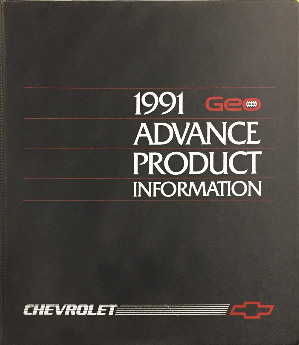 1991 Geo Advance Technical Press Kit Original