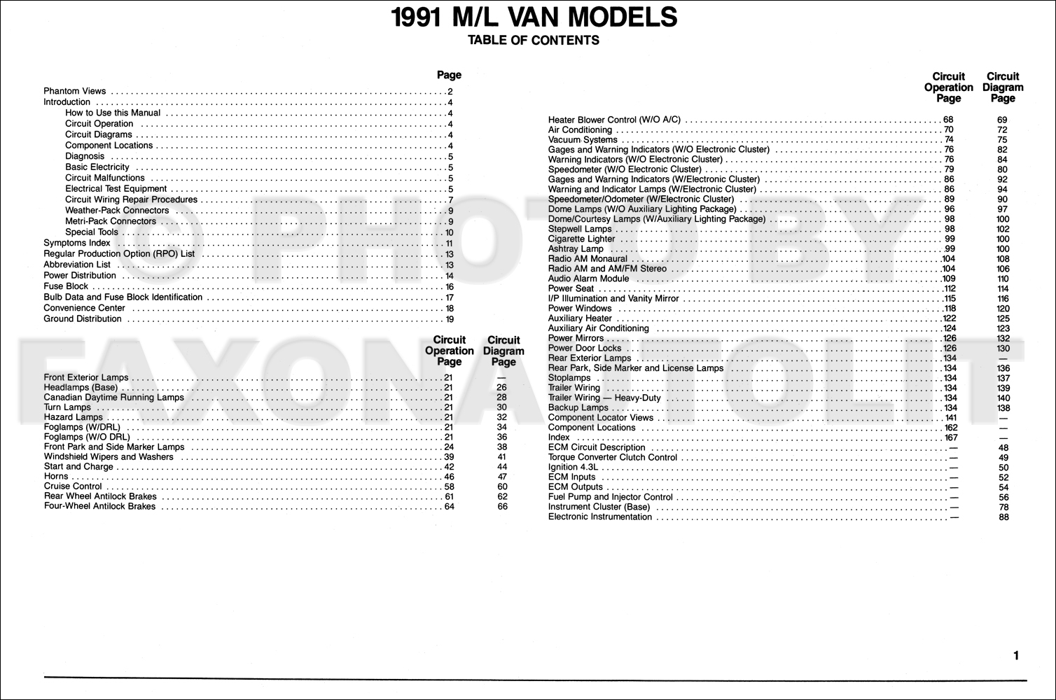 1991 chevy astro van wiring diagram manual original 1991 ford wiring diagram  1991 astro van wiring