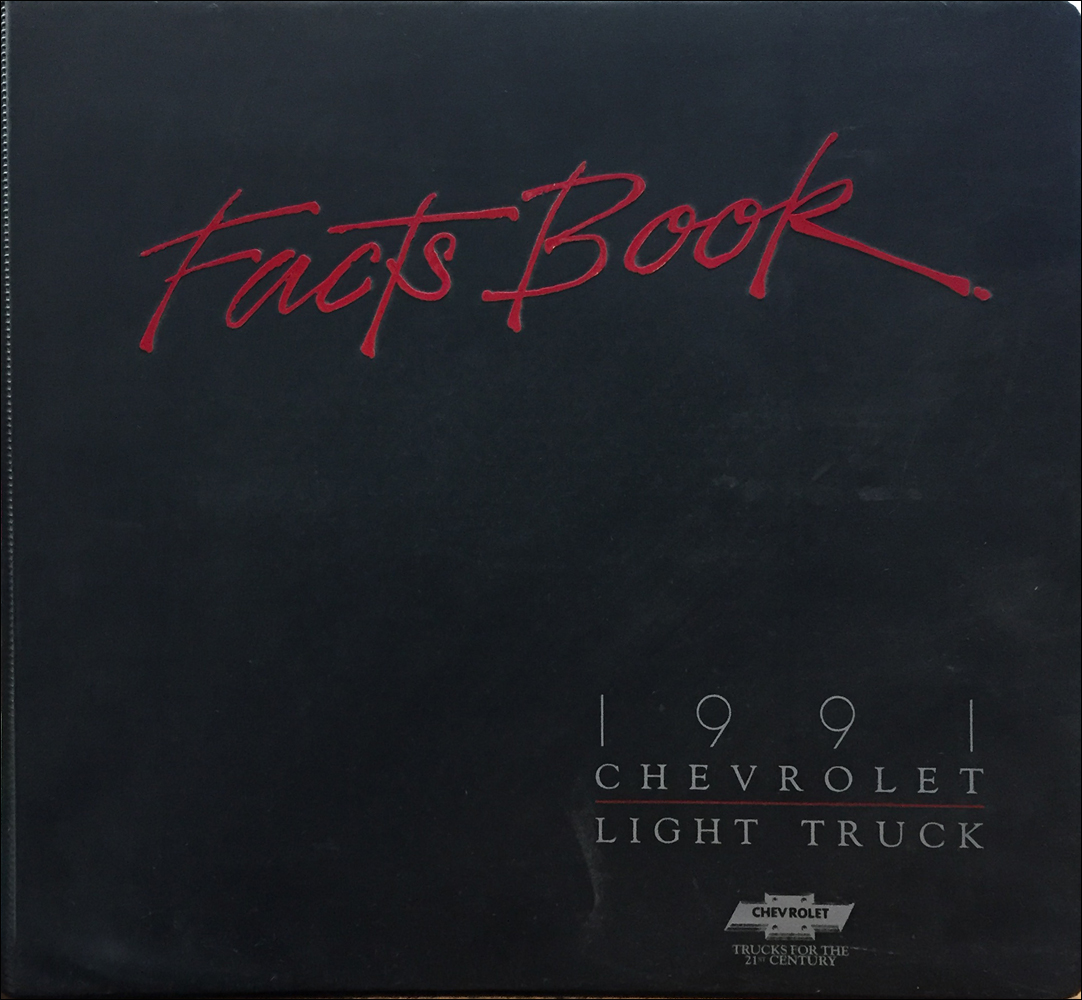 1991 Chevrolet Truck Data Book and Color and Upholstery Dealer Album Original