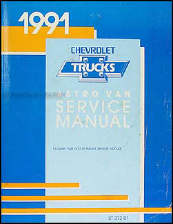 1991 Chevrolet Astro Van Shop Manual Original