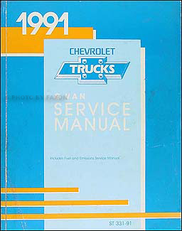 1991 Chevrolet G Van Repair Manual Original