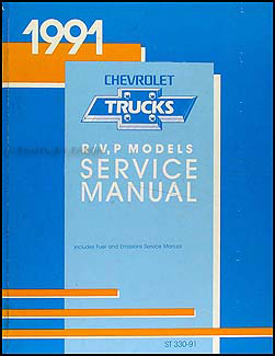 1991 Chevrolet Truck Repair Shop Manual Original Blazer Suburban Pickup FC