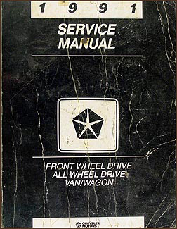 1991 Caravan, Town & Country, Voyager Van Repair Manual Original