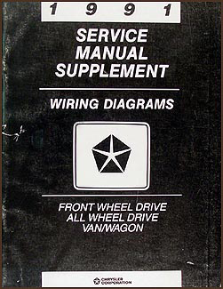 1991 Caravan, Town & Country, Voyager Wiring Diagram Supplement