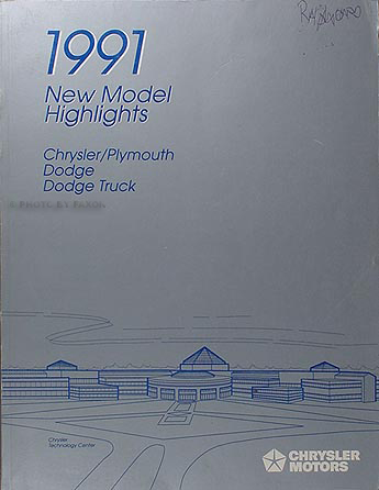 1991 Chrysler Dodge Plymouth Highlights Manual Original