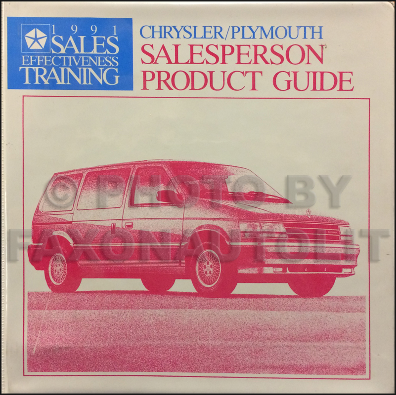 1991 Chrysler Plymouth Salesperson Product Guide Original