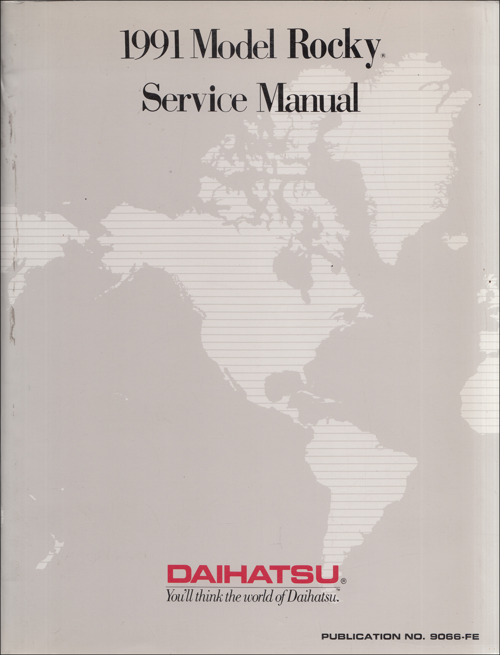 1991 Daihatsu Rocky Repair Shop Manual Reprint Wiring Diagram 91