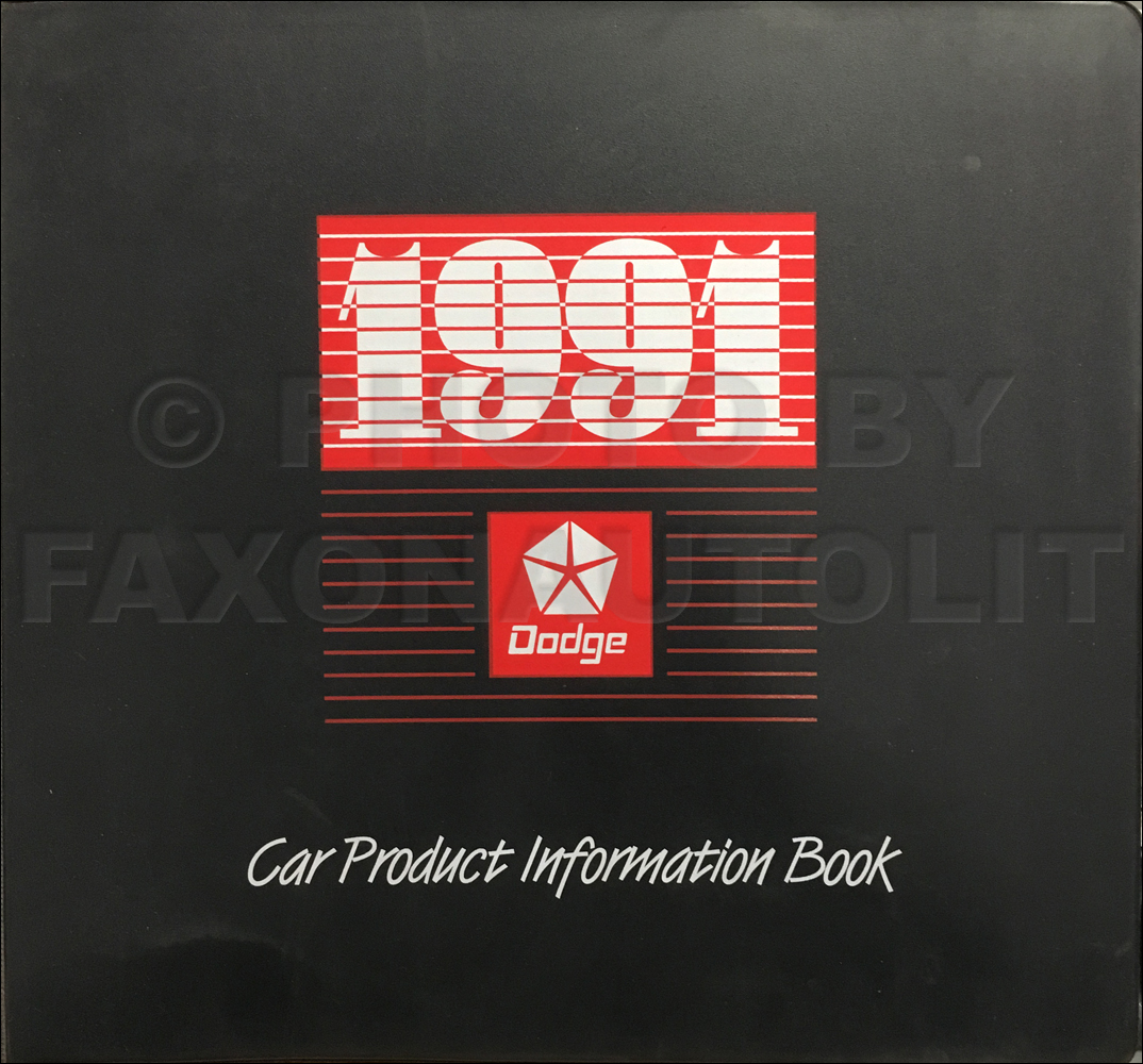 1991 Dodge Car Color & Upholstery Album and Data Book Original