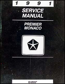 1991 Dodge Monaco & Eagle Premier Shop Manual Original