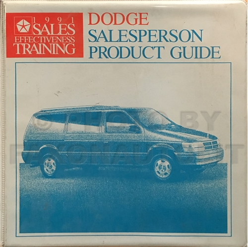 1991 Dodge Salesperson Product Guide Album Original