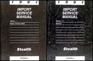 1991 Stealth Shop Manual Original 2 Volume Set