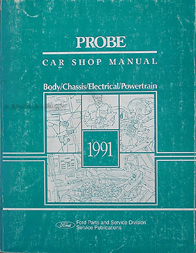 1991 Ford Probe Repair Manual Original GL LX GT