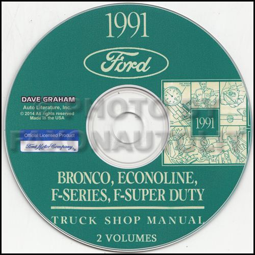 1991 Ford Truck And Van Repair Shop Manual Econoline F150 F250 F350 Bronco
