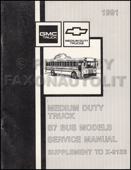1991 GMC/Chevy Topkick, Kodiak, & S7 Wiring Diagram Manual Original