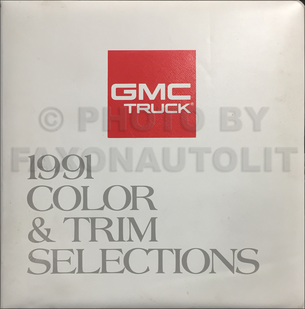 1991 GMC Color & Upholstery Dealer Album Original