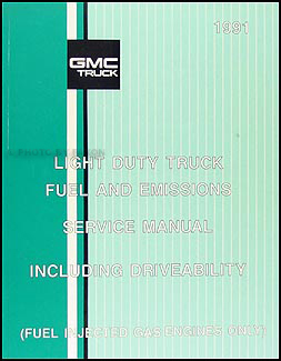 1991 GMC C/K Sierra Pickup Wiring Diagram Manual 1500 2500 3500Faxon Auto Literature