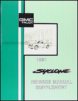 1991 GMC Syclone Service Manual Original Supplement