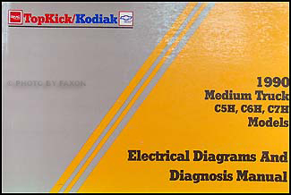 1990 Chevy Kodiak & GMC Topkick Wiring Diagram Manual Original