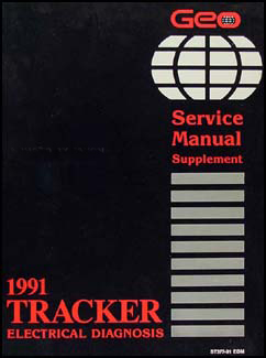 1991 Geo Tracker Electrical Diagnosis Manual Original