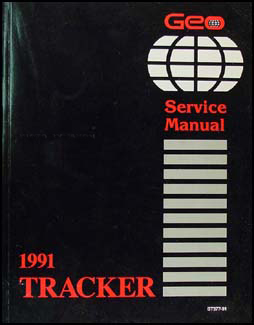1991 Geo Tracker Repair Manual Original