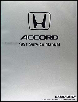 1991 Honda Accord Repair Manual Original