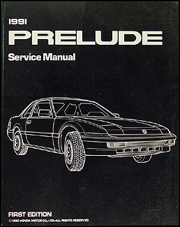 1991 Honda Prelude Repair Manual Original
