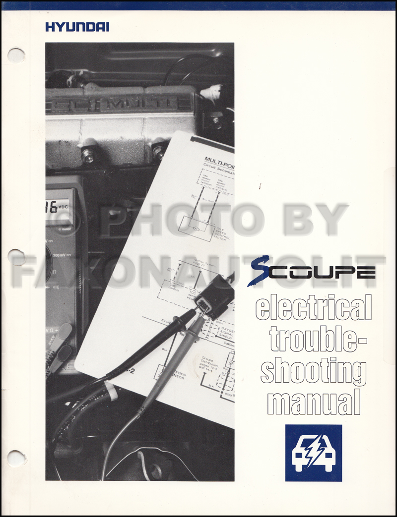 1991 Hyundai Scoupe Electrical Troubleshooting Manual Original