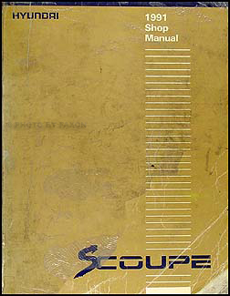 1991 Hyundai Scoupe Shop Manual Original