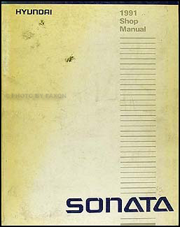 1991 Hyundai Sonata Shop Manual Original
