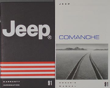1991 Jeep Comanche Owner's Manual Original