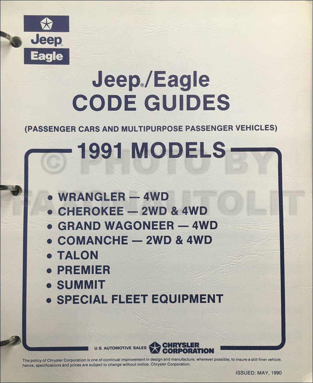 1991 Jeep and Eagle Code Guide Original