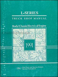 1991 Ford L-Series Truck 7000-9000 Repair Shop Manual Original