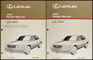 1991 Lexus LS 400 Repair Manual Original 2 Volume Set